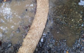 Turbid water cleaned through sediment retention fiber roll