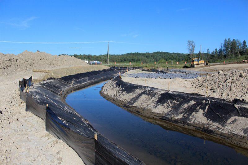 Drainage, canalisation et dérivation de cours d'eau - Environnement - Terraquavie Environnement & Géosynthétiques