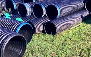 HDPE conduit in storage